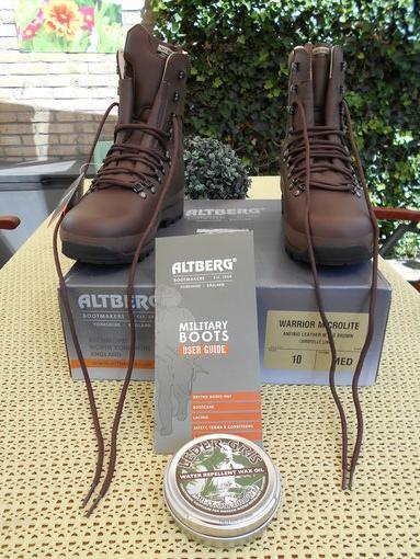 Boots Altberg Warrior Mod Microlite Bushcraft Brown ID2HWE9